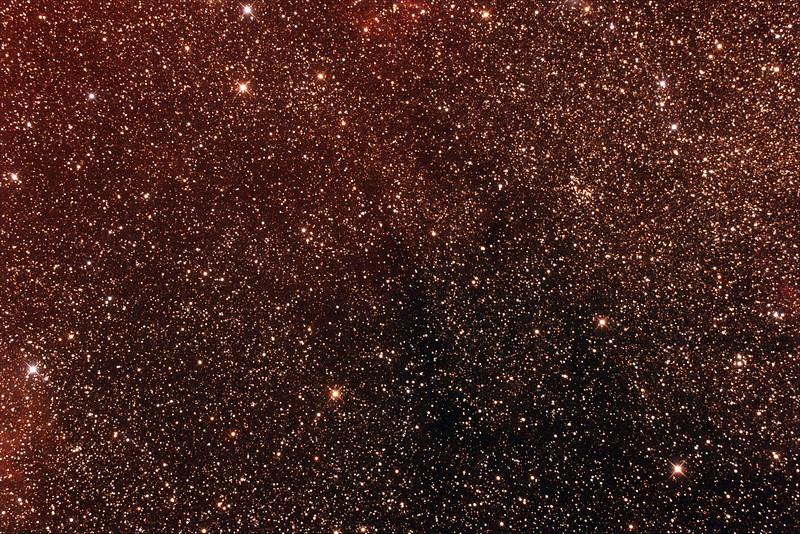 Gum 48b, 48c and 48d Nebulae - 1/3/2014 (Processed stack)