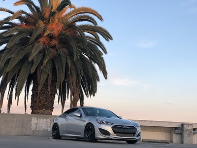 James' 2013 Genesis Coupe on 18x9.5 Rota Grids in Hyper Black