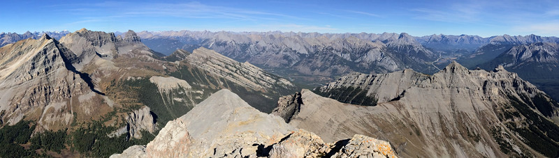Looking to the East from the top of Mount Bourgeau