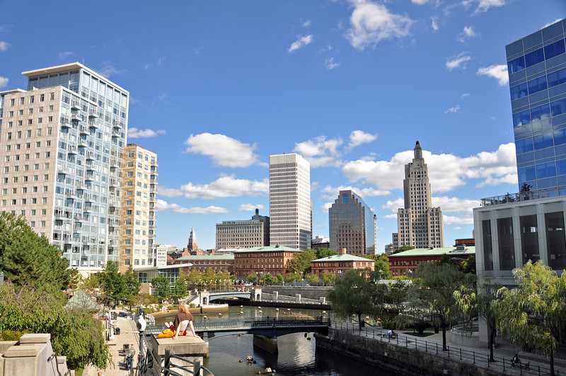 The river in downtown Providence