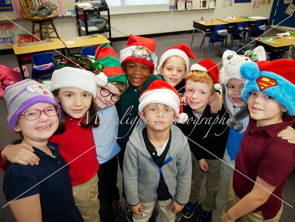 Christmas hats and socks
