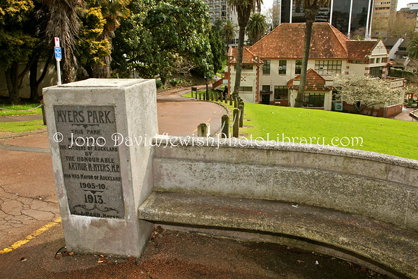 NEW ZEALAND, Auckland. (Arthur Mielziner) Myers Park (Mayor of Auckland 1905~1910, and MP). (9.2010)