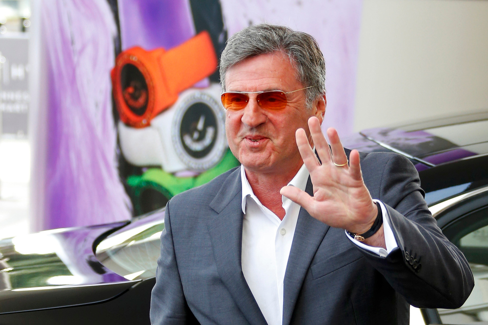 . Jury member actor and director Daniel Auteuil arrives at the Grand Hyatt Cannes Hotel Martinez on the eve of the opening of the 66th Cannes Film Festival in Cannes May 14, 2013. The 66th Cannes Film Festival will run from May 15 to May 26.        REUTERS/Yves Herman