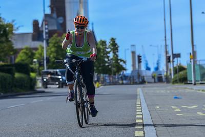 Cardiff Triathlon - Bike - Lloyd George Avenue - After 8.45