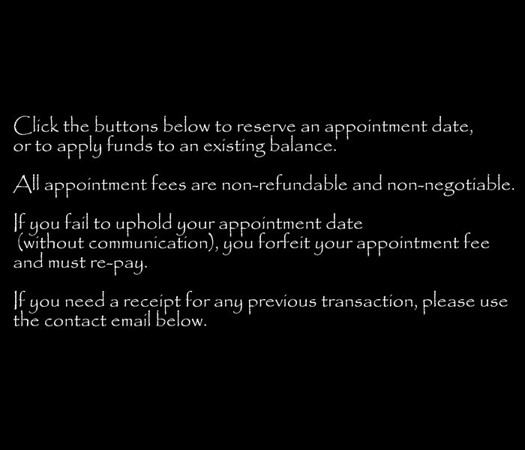 Appointments/Payments