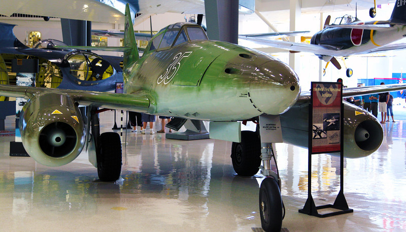 The Messerschmidt ME 262.  First jet plane used in combat.