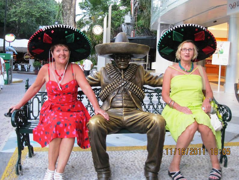 Playa del Carmen - 3 Mexican style - wearing sombrero...