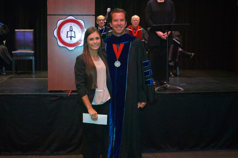 The Exercise Science Most Outstanding Major Pre-Professional Award is given to Anna Pashkova.