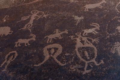 Blue bison pictograph panel