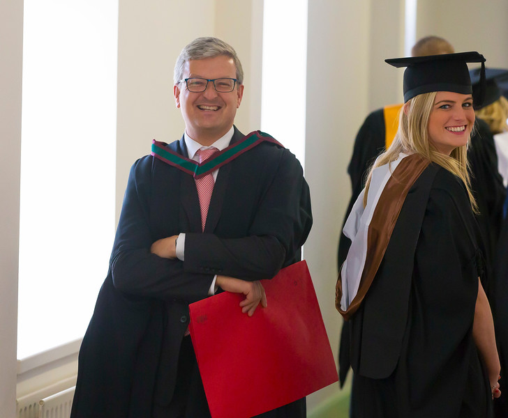02/11/2016. Waterford Institute of Technology (WIT) Conferring Ceremonies November 2016. Pictured is Jennifer Dick from Donegal who Graduated BSc in Airline Transport Operations, also pictured is Neil Quinlan Head of Department of Lifelong Learning WIT. Picture: Patrick Browne