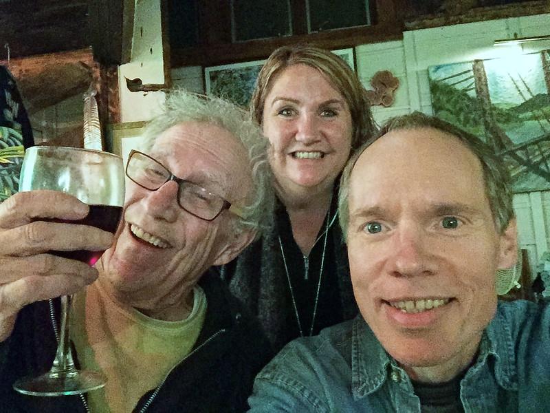 New year's eve, with Larry Lebin, Linda, & FL. My first rolled-rib roast dinner. Dec 31 2015