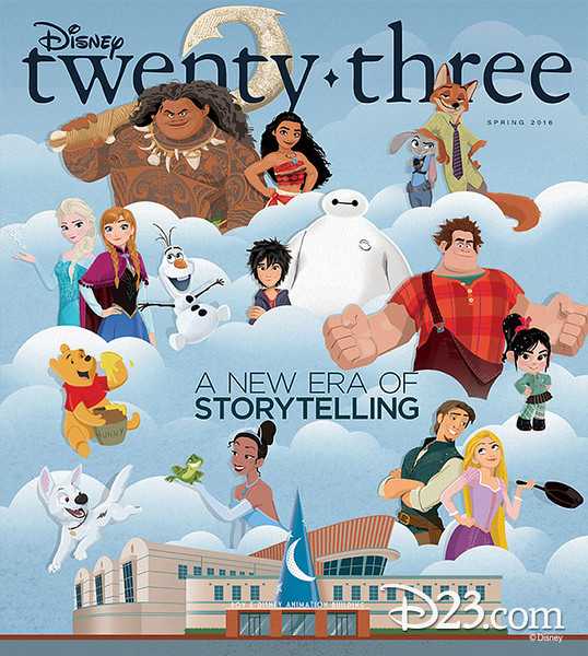 Disney Twenty-Three Magazine celebrates Walt Disney Animation Studios in Spring 2016 issue