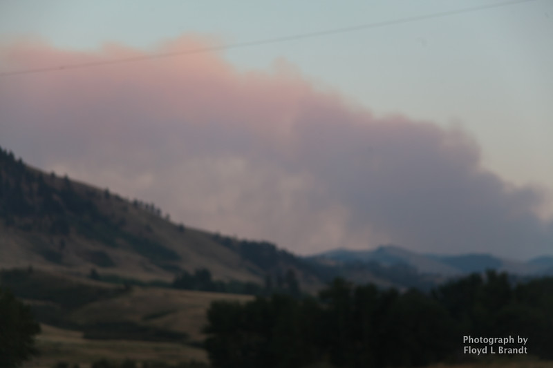 Havre Daily News/ Floyd Brandt  Crews were call to fight a forest fire approximately 30 miles of Havre Sunday. The cause unknown Smoke could be seen from Beaver Creek Reservoir