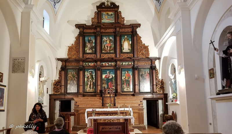 Beautiful altar in a usually closed old convent