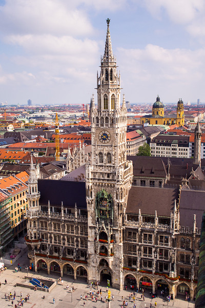 Rathaus from Peterskirche tower.