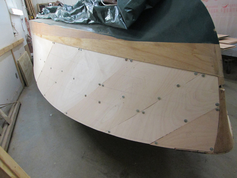 Front port view of plywood fit.