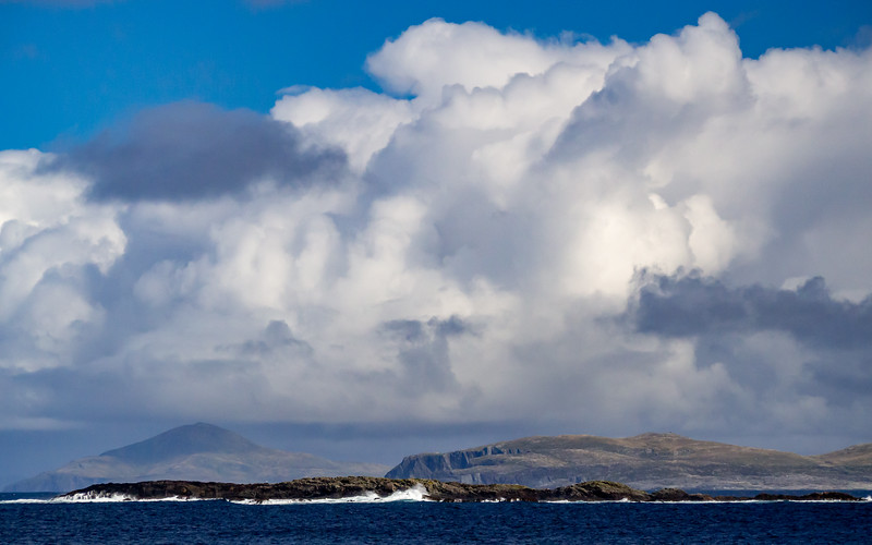 Looking north towards Achill from the coast of Inishbofin
