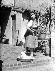 1944, Women Having Fun on Olvera St.