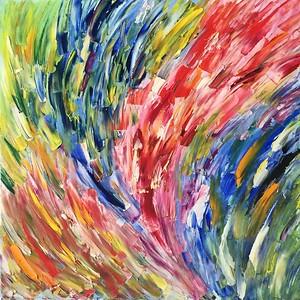 """The fountain of emotions"" (oil) by Anastasiia Bordiuzha"