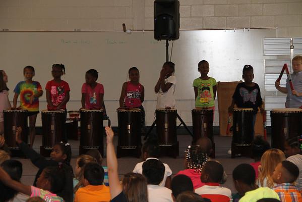 5-5-2014 Dancing Drum visits  Northside Primary