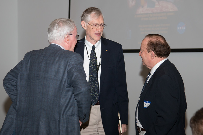 Richard Henry (JHU), John Mather, and Floyd Stecker -- NASA/GSFC Career Celebration for John Mather (40 years), Floyd Stecker (50 years), and Peter Serlemitsos (55 years), Greenbelt, Nov 17, 2016.