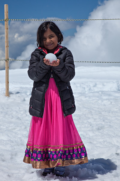 My first snowball --Jungfraujoch--top of Europe