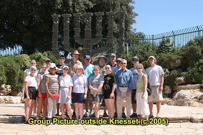 Olam Tikvah Congregants' visits to Israel with Rabbi Kalender