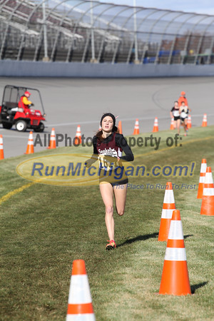 3.0 Mile Mark, D1 Girls - 2014 MHSAA LP XC Finals