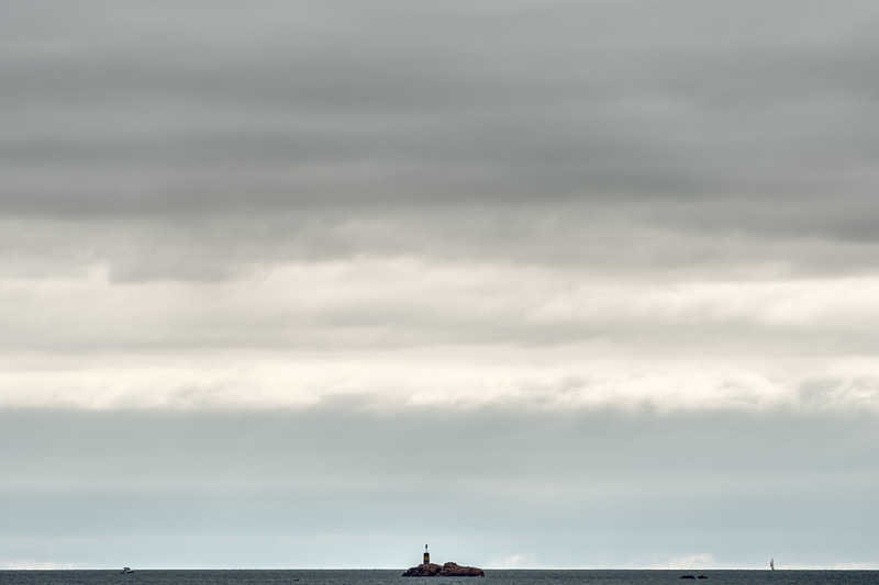 Les Piliers Beacon Tower - Ploubazlanec-Île-de-Bréhat Ferry, France - August 16, 2018
