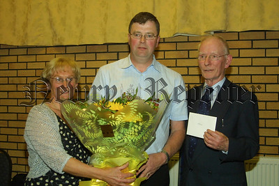 Tokens of appreciation from the club were presented to Moira and Aidan Conlan by the Club Chairman. 07W17N218