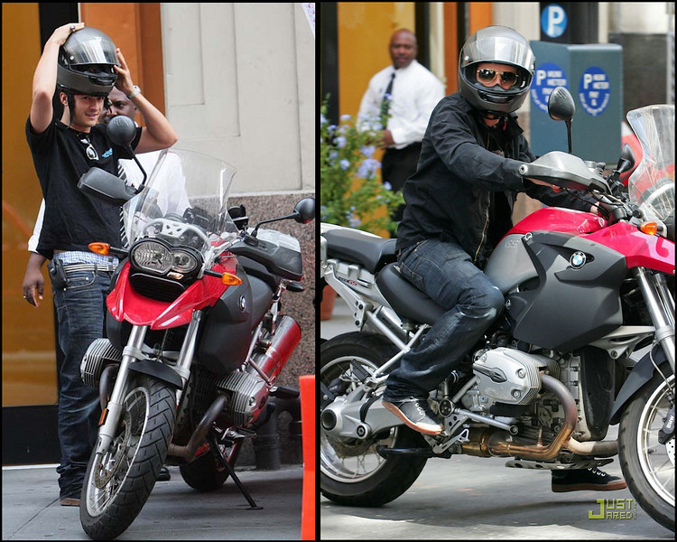 Aug 2008 - Orlando Bloom on his BMW R1200GS motorcycle