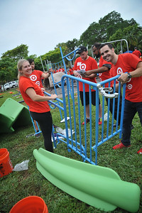 Building Playground Target-Boden