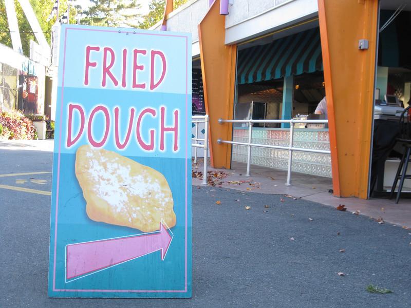 Be-Bop Diner Fried Dough sign.