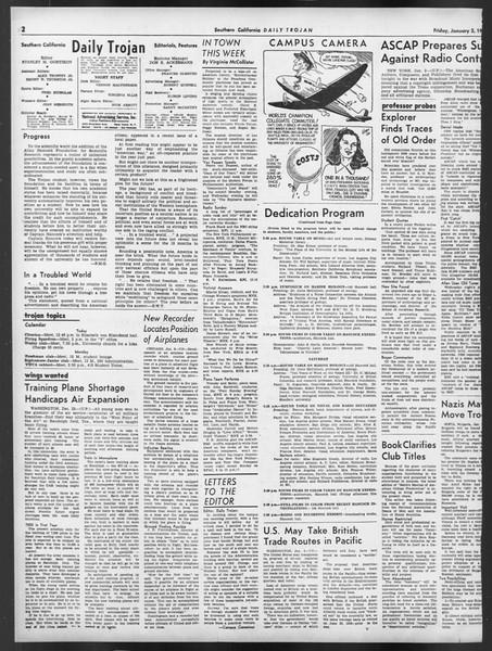 Daily Trojan, Vol. 32, No. 64, January 03, 1941