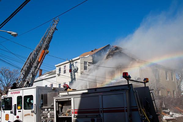 Paterson NJ 4th alarm, 10 Redwood Ave. 01-31-15