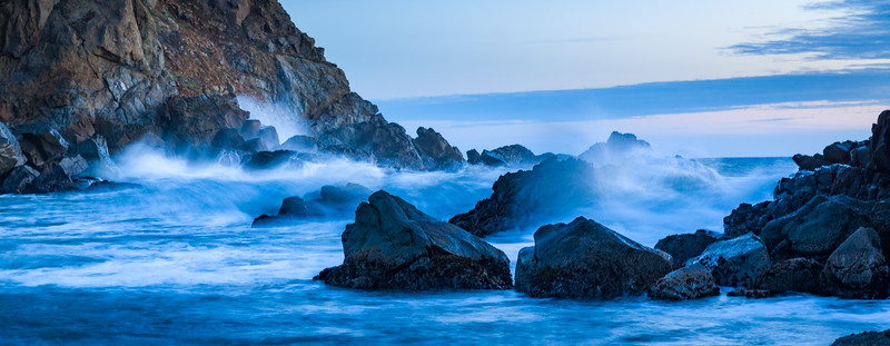 Evening tide at Julia Pfeiffer State Park