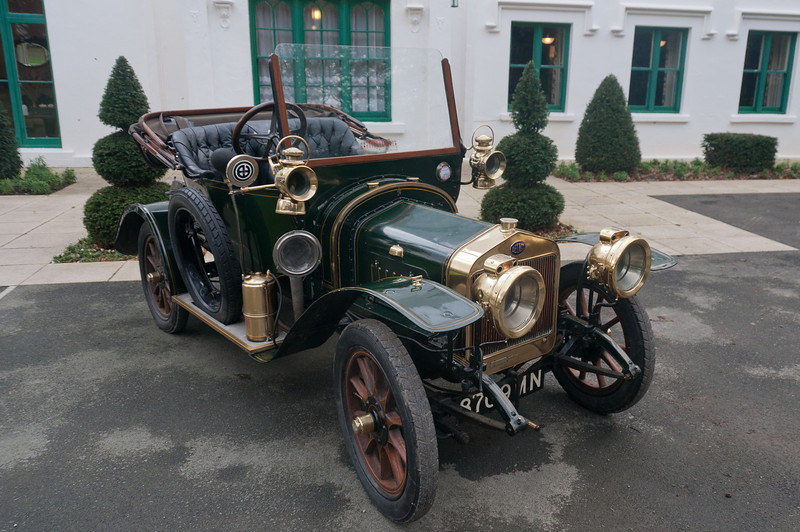 Old vehicle parked outside Milntown House and Gardens in Ramsey, Isle of Man
