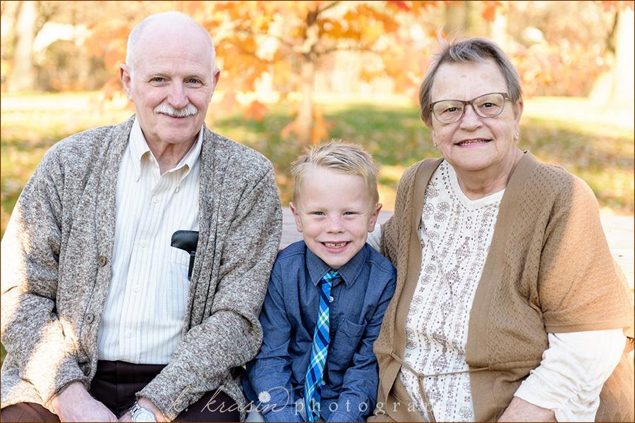 John with grandparents