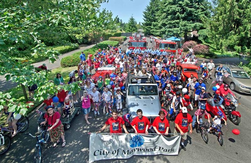 Maywood Park 4th July Parade 2012