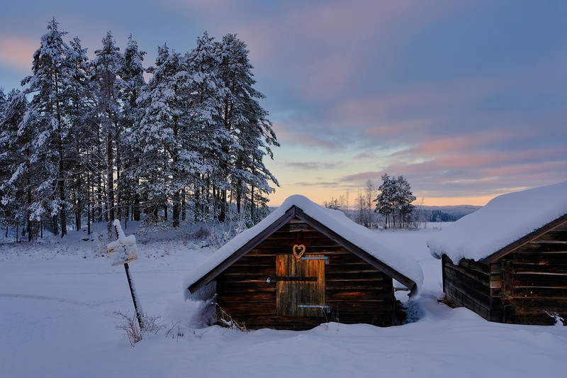 Winter lakeside