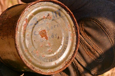 Old Army Rations - Crackers and Candy May 2013, Cynthia Meyer, Chichagof Island, Alaska