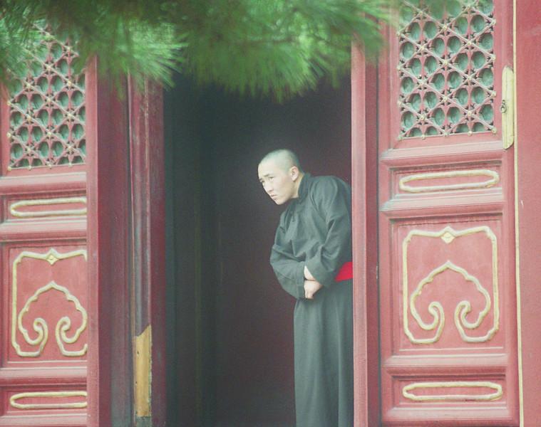 2004 October monk in Beijing China temple.jpg