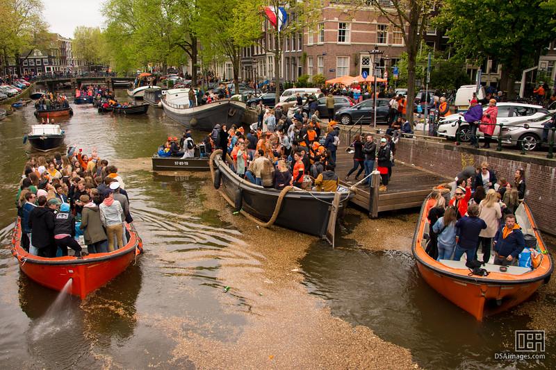 Party boats celebrating King's Birthday 2019