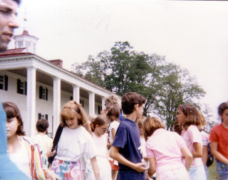 At George Washington's Mount Vernon.  Sixth-grade teacher Bob Iseminger is on the left.