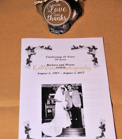 Owens' 50th Wedding Anniversary