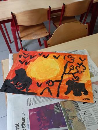 Klas 1 : Afrikaanse zonsondergang