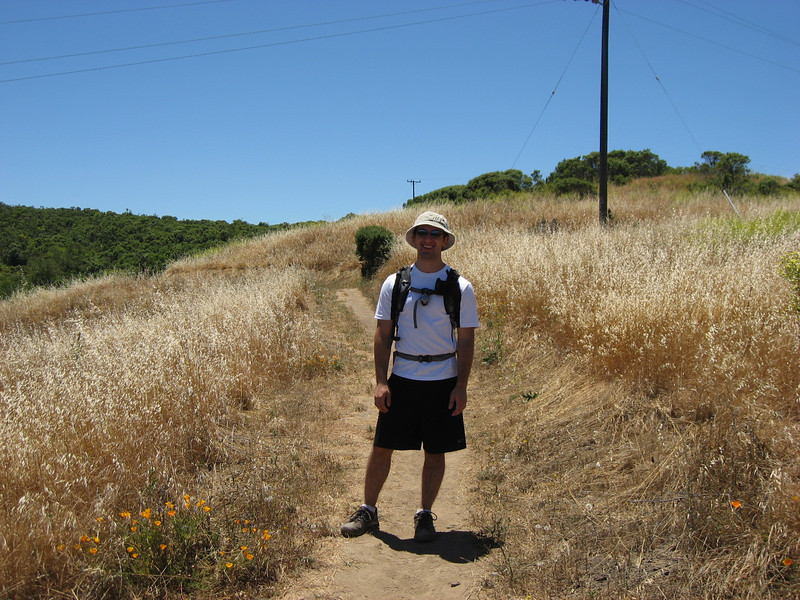 On my hike at Windy Hill