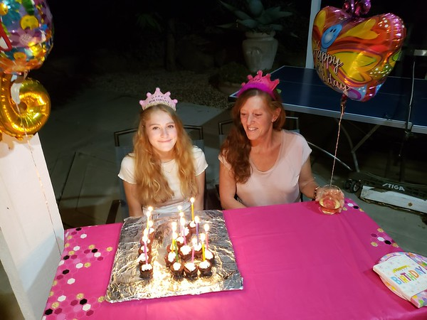 Kay and Emmas birthday