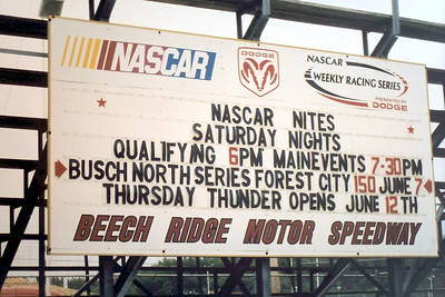 NASCAR Busch North Race rained out @ Beech Ridge 6-7-2003
