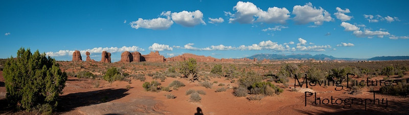 Panorama with Balanced Rock in the distance